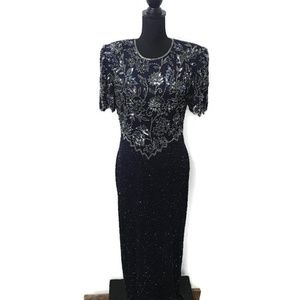 VINTAGE Scala Beaded Evening Gown Size XL